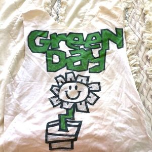 Green Day crop top